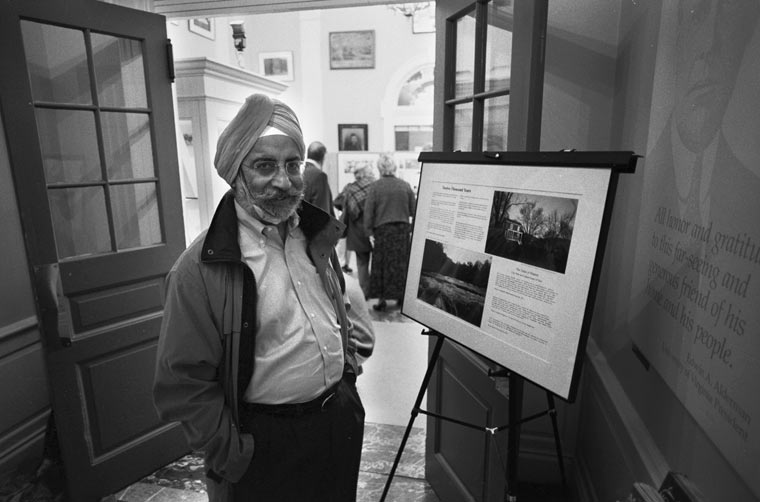 photographs, maps and legends. Satyendra S. Huja at ACHS opening,10/6/06