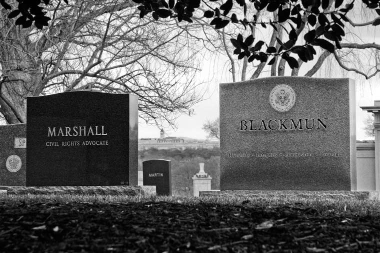graves of Supreme Court Justices Thurgood Marshall and Harry Blackmun