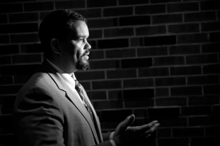 Maurice Jones answers media questions