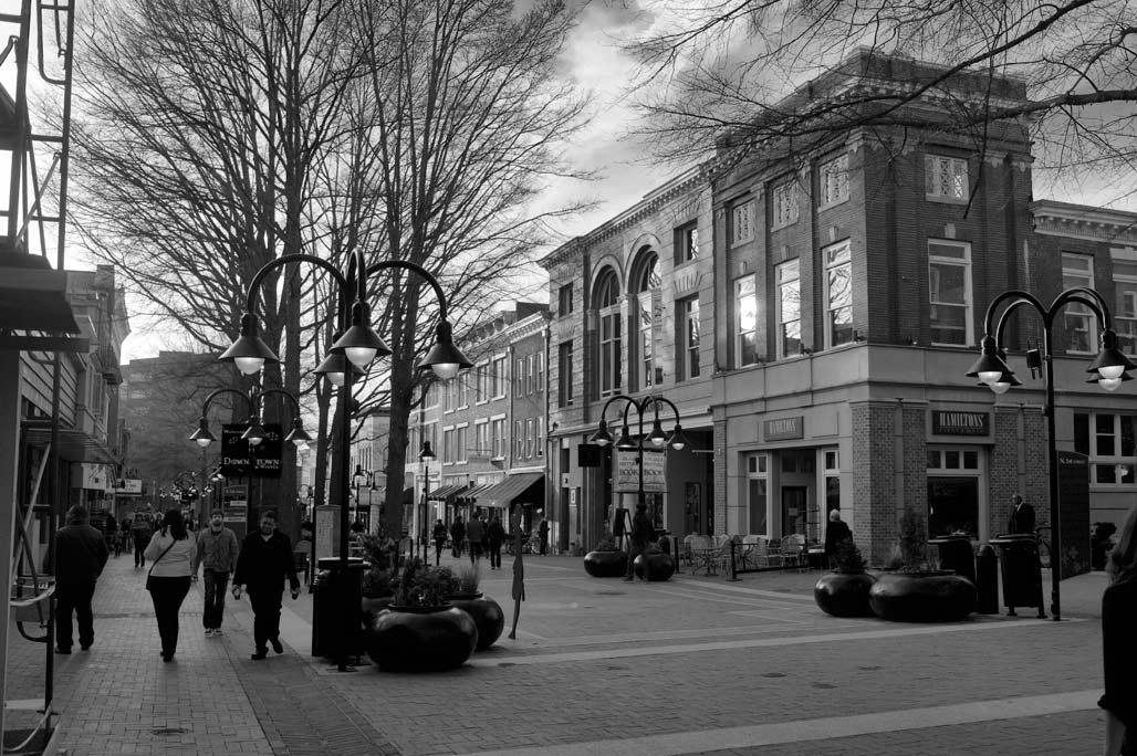 charlottesville pedestrian area