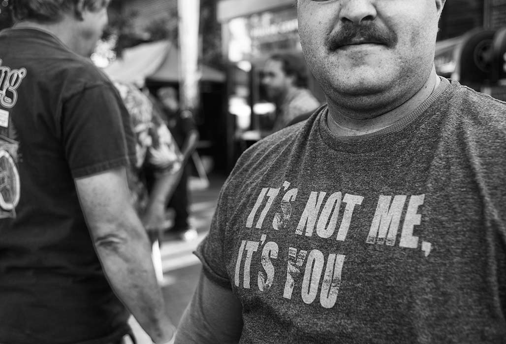 it's not me it's you tee shirt