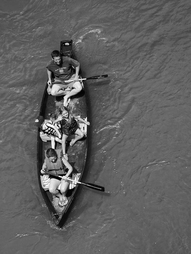 canoe from above