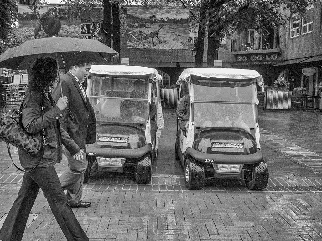 dueling golfcarts