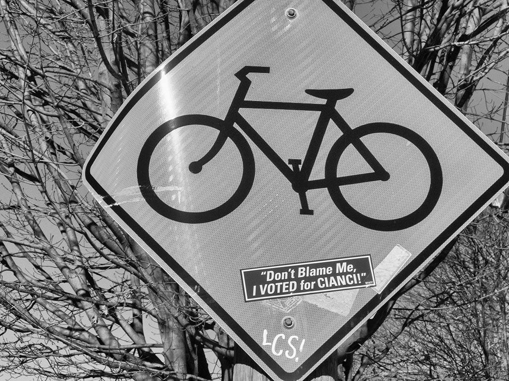 bike sign Cianci sticker