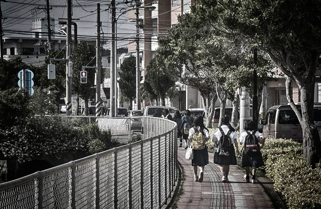 schoolchildren in Okinawa