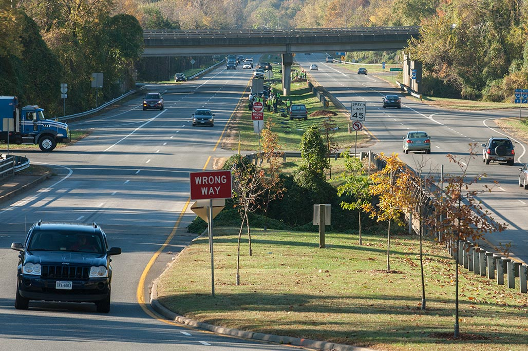 RT 20 south looking toward I-64