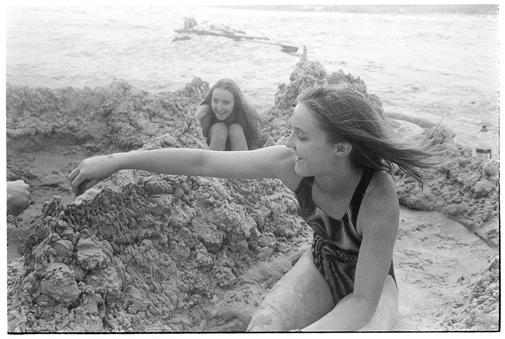 beach, sandcastle