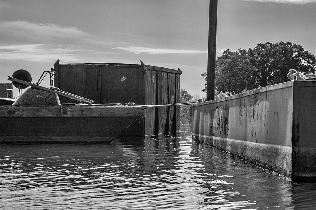 barges and dumpster