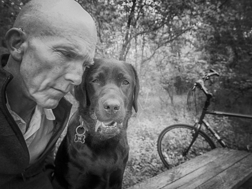 dog and old man