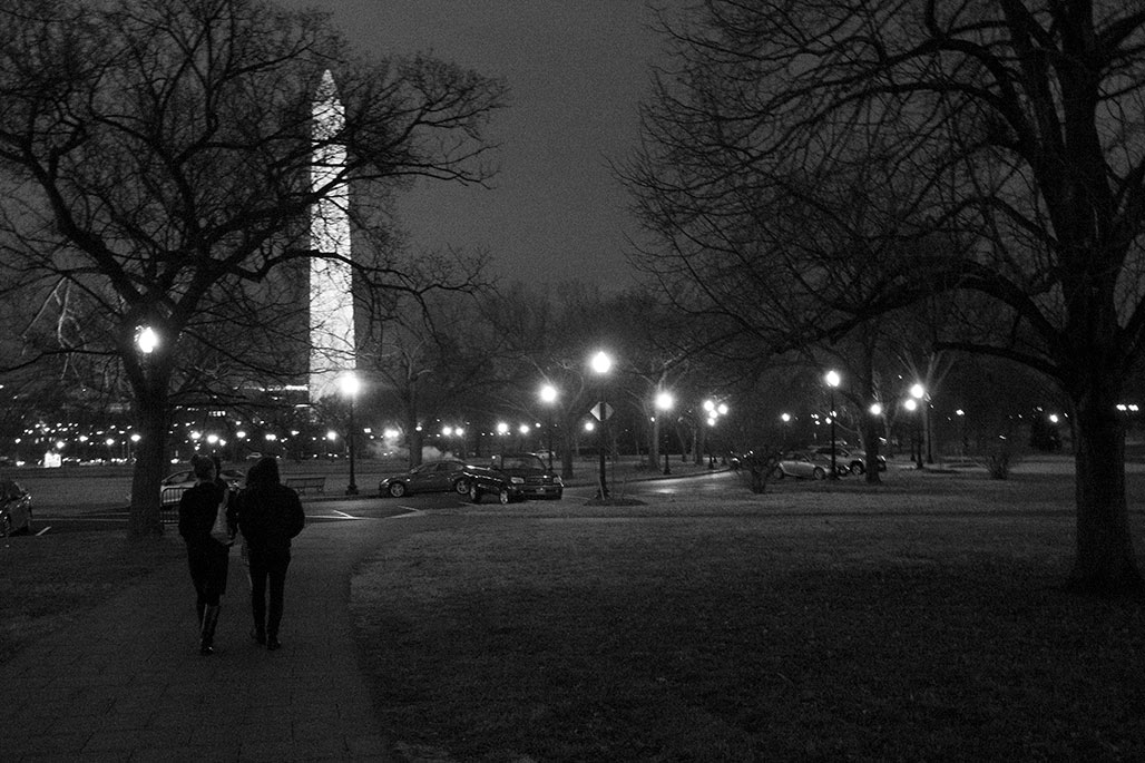 washington monument night