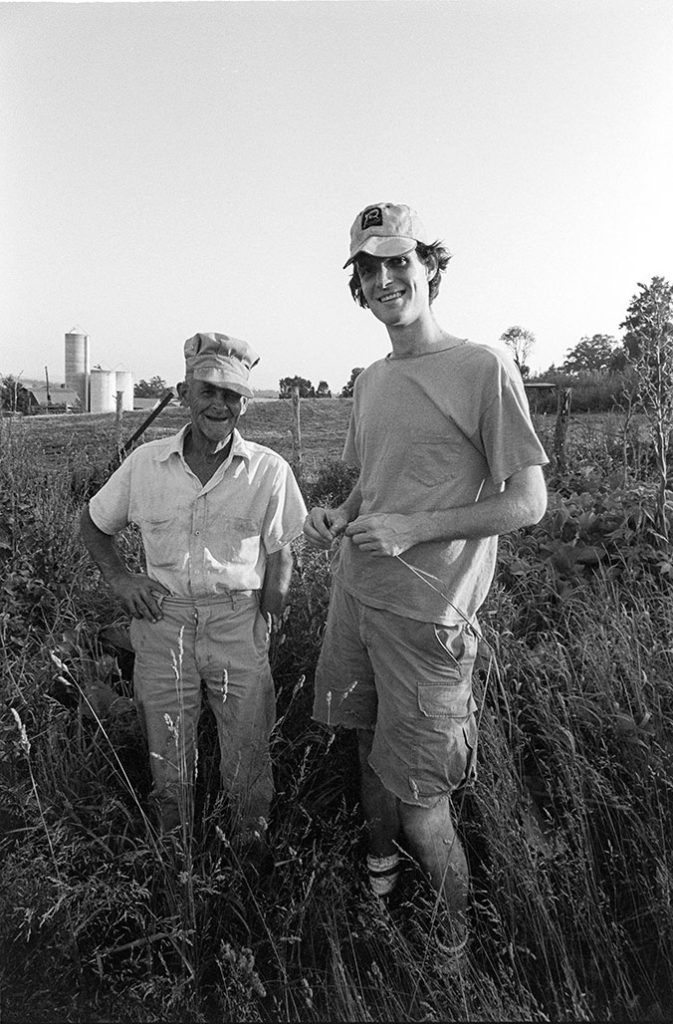Lurtie Breedin and Scott Christian in the tall grass