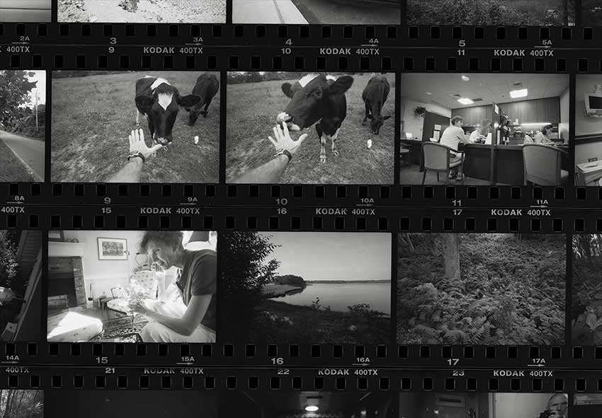 portion of contact sheet