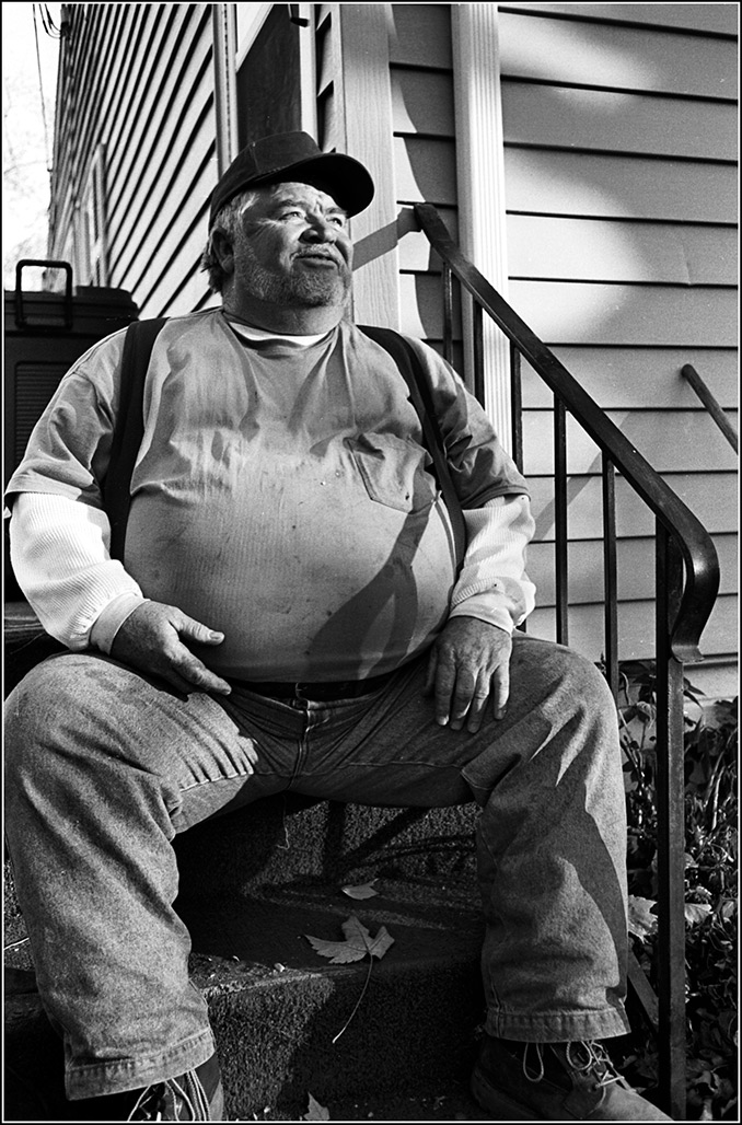 Harold on the stoop, Riverview Ave.