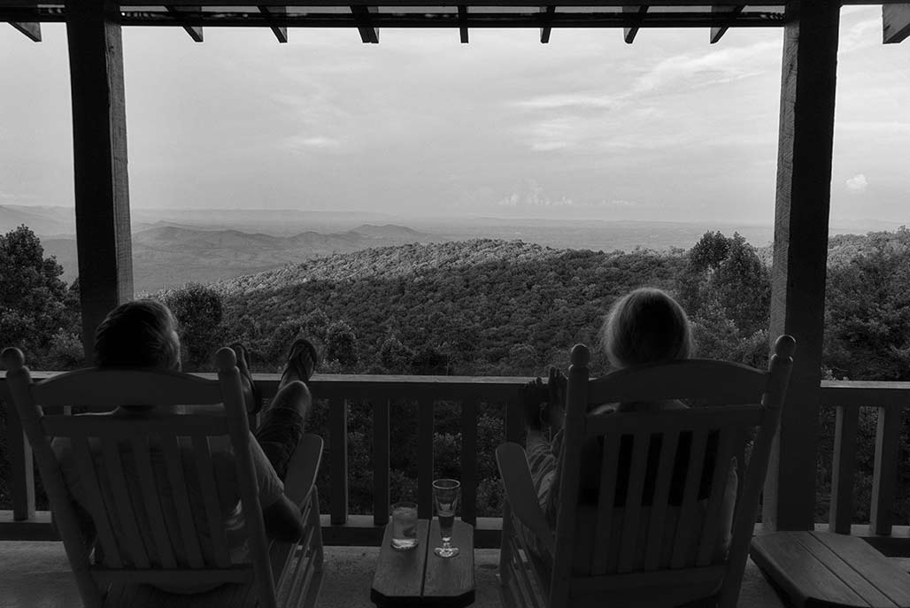 porch people mountains